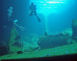 Diving WWII Wreck in Truk